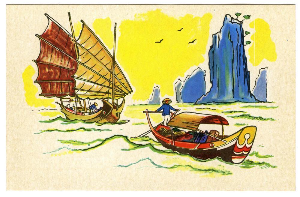 Лодки народов мира открытки, наушники