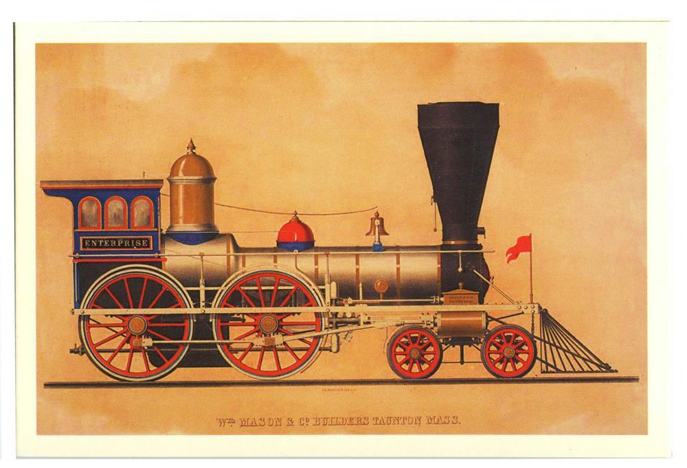 Старые открытки паровозы
