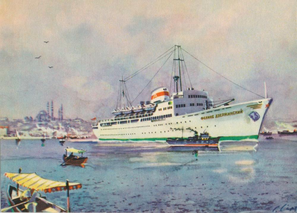 Прикольные, открытки с пароходами