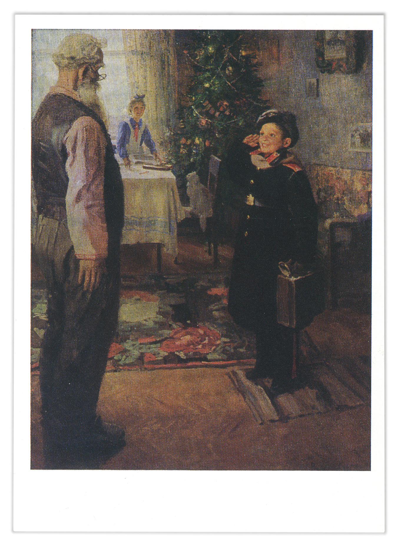 сверла картины решетникова фото с названиями мальчик дровами голове